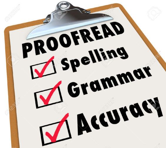 Proofreading native speakera